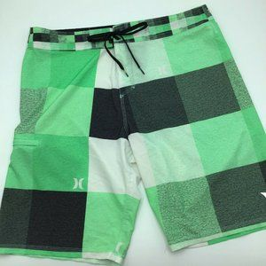 Hurley Mens Size 34 Swim Board Shorts Green